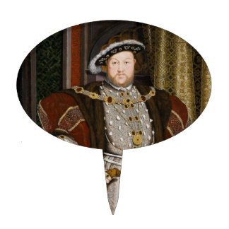 Portrait of Henry VIII by Hans Holbein the Younger Cake Topper