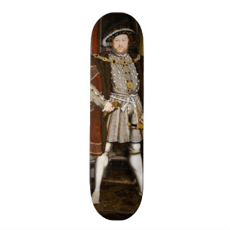 Portrait of Henry VIII by Hans Holbein the Younger Skateboard Deck