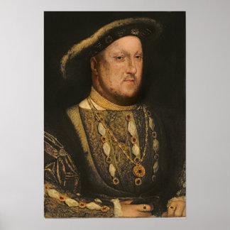 Portrait of Henry VIII  c.1536 Poster