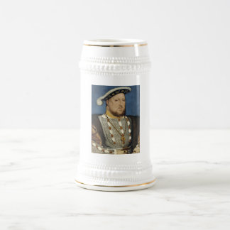 Portrait of Henry VIII of England by Hans Holbein Beer Stein