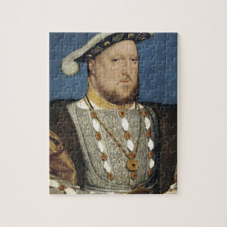 Portrait of Henry VIII of England by Hans Holbein Jigsaw Puzzle
