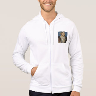 Portrait of Henry VIII of England by Hans Holbein Hooded Pullover