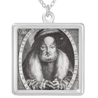 Portrait of Henry VIII Silver Plated Necklace
