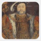 Portrait of Henry VIII Square Sticker