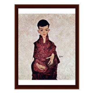 Portrait Of Herbert Rainer By Schiele Egon Postcard