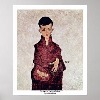 Portrait Of Herbert Rainer By Schiele Egon Posters
