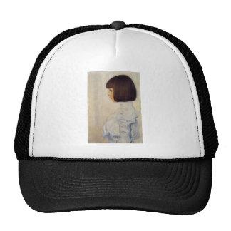 Portrait of herene kurimuto trucker hat