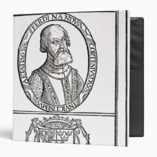 Portrait of Hernado Cortes and his arms Vinyl Binder