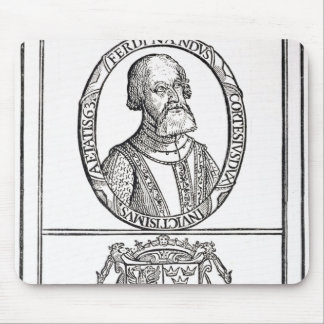 Portrait of Hernado Cortes  and his arms Mouse Pad