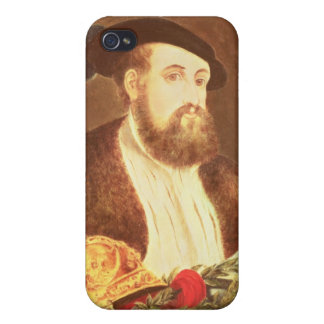 Portrait of Hernan Cortes Covers For iPhone 4