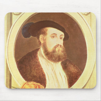 Portrait of Hernan Cortes Mouse Pad