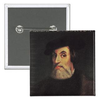 Portrait of Hernando Cortes Button