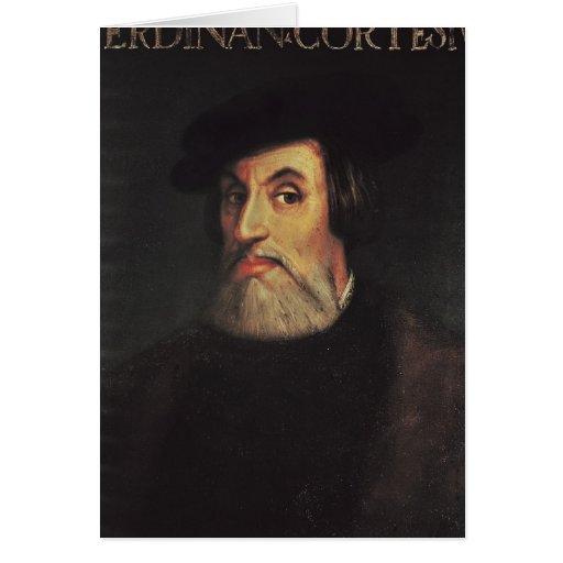 Portrait of Hernando Cortes Card