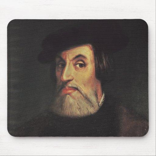 Portrait of Hernando Cortes Mousepads