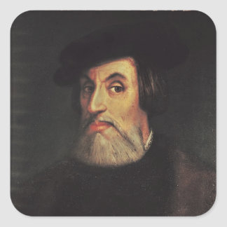Portrait of Hernando Cortes Square Sticker