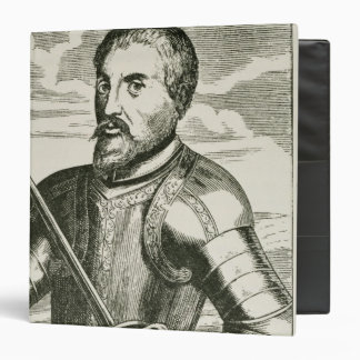 Portrait of Hernando de Soto Vinyl Binder