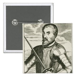 Portrait of Hernando de Soto Pinback Button