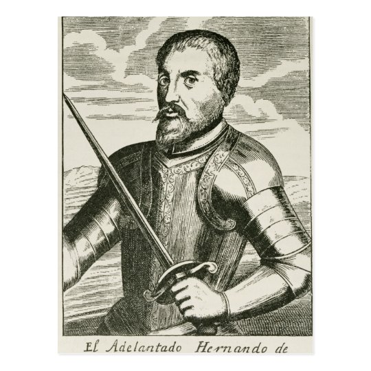 Portrait of Hernando de Soto Postcard