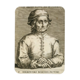 Portrait of Hieronymus Bosch (c.1450-1516) plate 3 Magnets