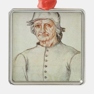 Portrait of Hieronymus Bosch Metal Ornament