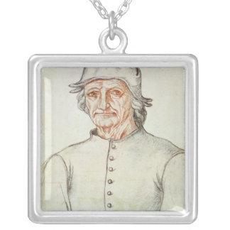 Portrait of Hieronymus Bosch Silver Plated Necklace