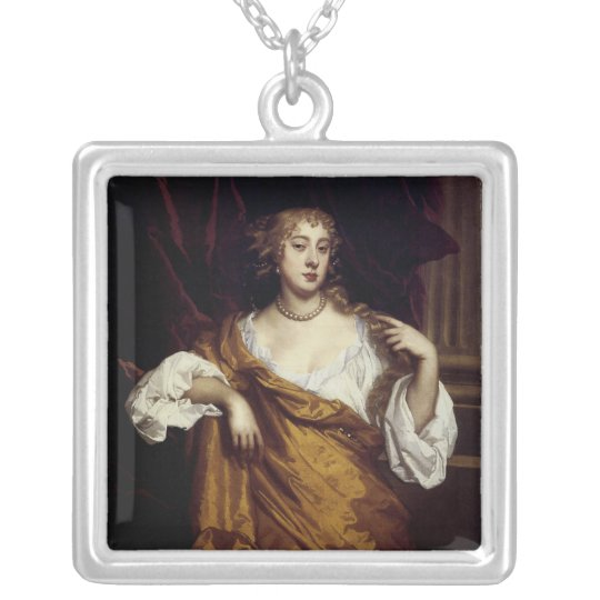 Portrait of Hon. Mary Wharton Silver Plated Necklace