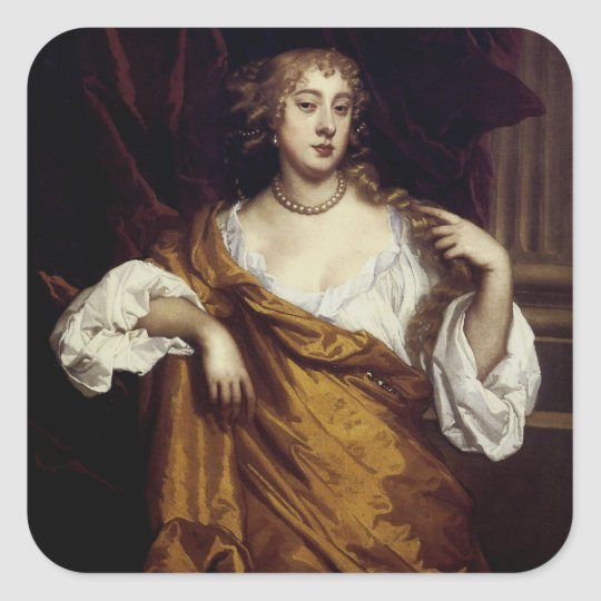 Portrait of Hon. Mary Wharton Square Sticker