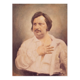 Portrait of Honore de Balzac Postcard
