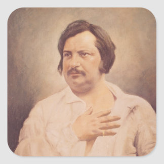 Portrait of Honore de Balzac Square Sticker