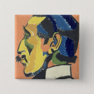 Portrait of Horace Brodsky (1885-1969) (pastel on Pinback Button