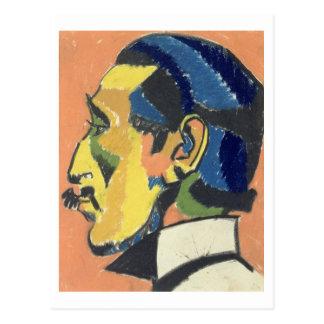Portrait of Horace Brodsky (1885-1969) (pastel on Postcard