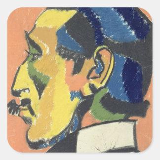 Portrait of Horace Brodsky (1885-1969) (pastel on Square Sticker