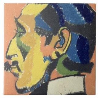 Portrait of Horace Brodsky (1885-1969) (pastel on Large Square Tile