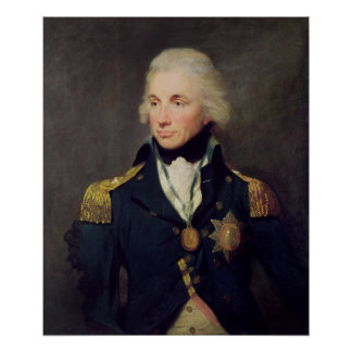 Portrait of Horatio Nelson , Viscount Nelson Poster