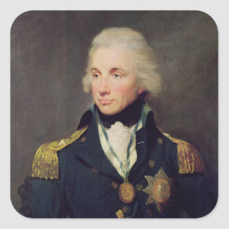 Portrait of Horatio Nelson , Viscount Nelson Square Sticker