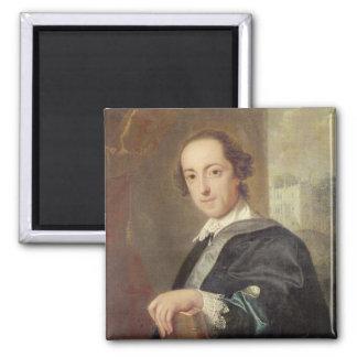 Portrait of Horatio Walpole 2 Inch Square Magnet