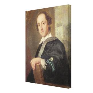 Portrait of Horatio Walpole Stretched Canvas Print