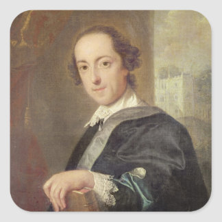 Portrait of Horatio Walpole Square Sticker