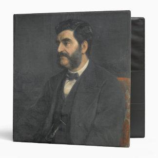 Portrait of Hormuzd Rassam, 1869 3 Ring Binder