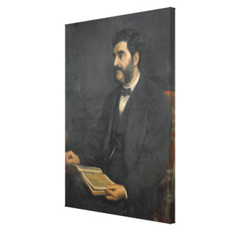 Portrait of Hormuzd Rassam, 1869 Canvas Print