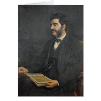 Portrait of Hormuzd Rassam, 1869 Card