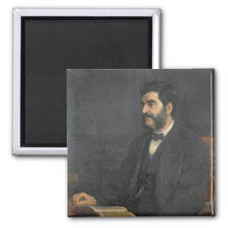 Portrait of Hormuzd Rassam, 1869 Magnet