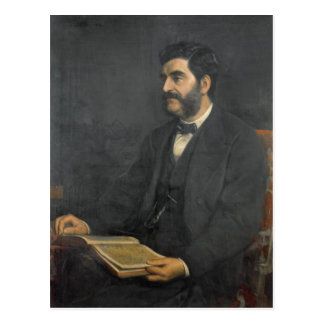 Portrait of Hormuzd Rassam, 1869 Postcard