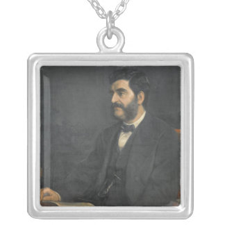Portrait of Hormuzd Rassam, 1869 Silver Plated Necklace