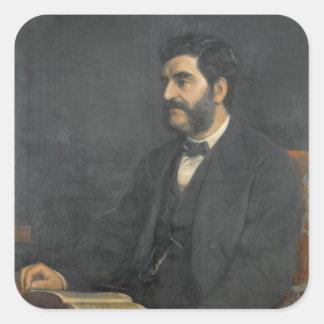 Portrait of Hormuzd Rassam, 1869 Square Sticker