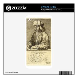 Portrait of Hubert van Eyck (1366-1426) plate 1 fr iPhone 4 Decal