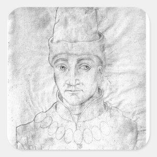 Portrait of Humphrey of England Square Sticker