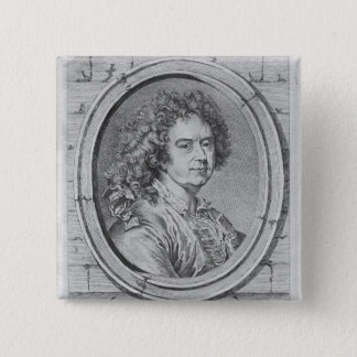 Portrait of Hyacinthe Rigaud, 1752-65 Pinback Button