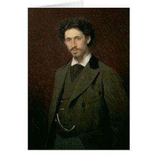 Portrait of Ilya Efimovich Repin, 1876 Card