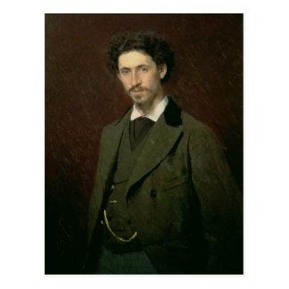 Portrait of Ilya Efimovich Repin, 1876 Postcard